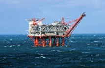 A Gulf of Mexico rig in heavy weather. Shutterstock.