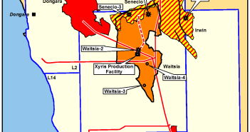 The Waitsia field in the Perth Basin. Image courtesy of AWE.